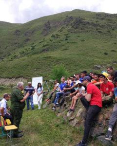 25 июля в Цми-Зарамаг на туристической базе «Сармат» ОО «Ирон Федерация» провела презентацию национальных видов спорта для волонтеров и активистов общественной молодежной организации «Иры ныфс».
