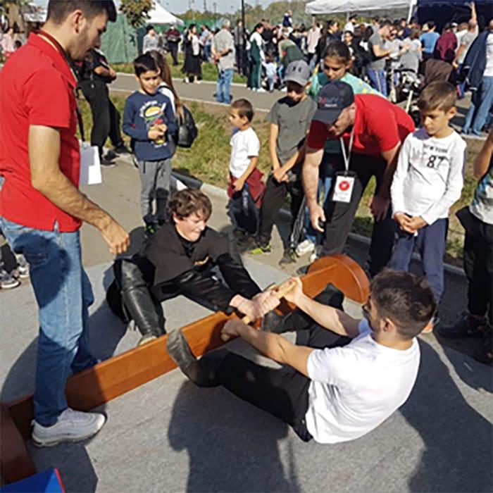 11 сентября Ирон Федерация приняла участие в праздновании Дня города и Дня Республики, проведя презентации национальных видов спорта таких, как чъопп, мас-рестлинг (ивазæнтæ) и других.